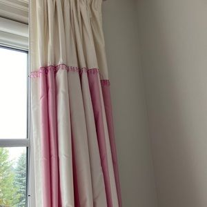 Silk Pottery Barn Kids Drapes - altered to be 100h
